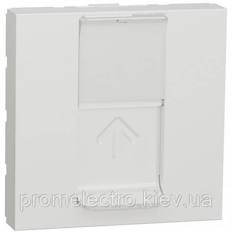 Розетка компьютерная RJ45, одинарная, кат.5e UTP, 2 модуля, белый, Unica NEW NU341118, фото 2