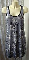Платье женское легкое летнее вискоза гипюр бренд George р.46-48 5163