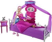 Большой набор кукла Барби 25 см и кровать Barbie bed to breakfast bedroom