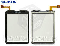 Сенсорный экран (touchscreen) для Nokia C3-01, черный, оригинал