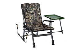 Коропове крісло Elektrostatyk з підлокітниками і столиком (F5R ST/P) Колір: камуфляж Клен