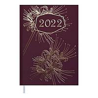 Щоденник датований 2022 A5 RICH бордовий, тверда обкладинка