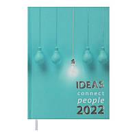 Щоденник датований 2022 A5 ONLY блакитний, тверда обкладинка