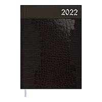 Щоденник датований 2022 A5 HIDE коричневий, тверда обкладинка