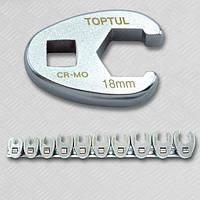 """Набір розрізних ключів 3/8"""" односторонніх 10шт 10-19мм GAAR1001 TOPTUL"""