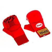 Накладки для карате BWS красные р.XL