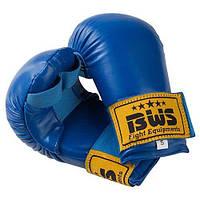 Накладки для карате BWS синие р.L 4009