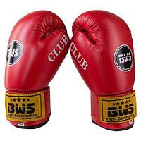Боксерские перчатки BWS красные 6oz Club BWS, Flex