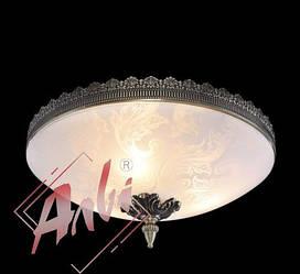 Люстра классическая, плафон 3-х ламповая  2357/3 бронза