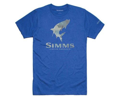 Футболка Simms Tarpon Hex Flo Camo T-Shirt Royal Heather S