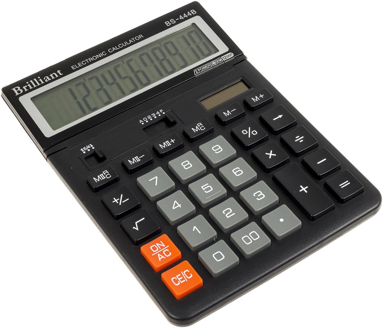 """Калькулятор """"Brilliant"""" №BS-444В похил. дисплей (12-розряд.)(10)"""