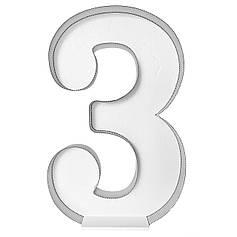 Цифра 3 самосборная для аэромозайки (1,2м)