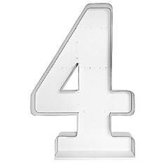 Цифра 4 самосборная для аэромозайки (1,2м)