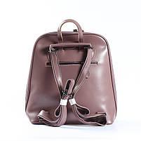 Жіночий шкіряний рюкзак-трансформер в рожевому кольорі Tiding Bag - 26767, фото 4