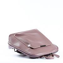 Жіночий шкіряний рюкзак-трансформер в рожевому кольорі Tiding Bag - 26767, фото 5