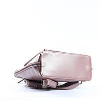Жіночий шкіряний рюкзак-трансформер в рожевому кольорі Tiding Bag - 26767, фото 6