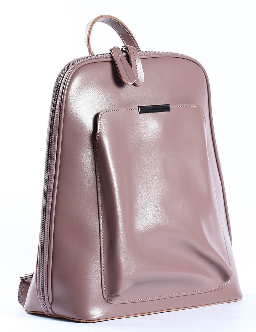 Жіночий шкіряний рюкзак-трансформер в рожевому кольорі Tiding Bag - 26767