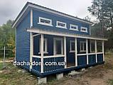 Каркасний будиночок для дачі 6,40*9,40 з двома терасами, фото 10
