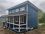 Каркасний будиночок для дачі 6,40*9,40 з двома терасами, фото 8
