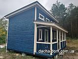 Каркасний будиночок для дачі 6,40*9,40 з двома терасами, фото 5