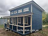 Каркасний будиночок для дачі 6,40*9,40 з двома терасами, фото 2