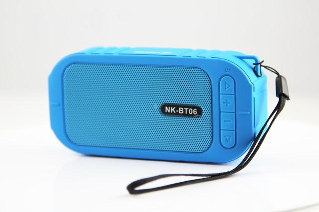 колонка блютуз, колонка водонепроницаемая, колонка водоотталкивающая, портативная колонка, переносная колонка, Bluetooth колонка NK-BT06 водоотталкивающая, Bluetooth колонка, колонка NK-BT06