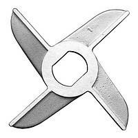 Нож нержавеющий двусторонний мясорубки МИМ-300 без бурта арт. 01.008