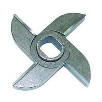 Нож двусторонний мясорубки МИМ-600 с буртом арт. 01.004