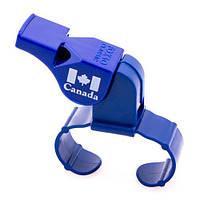Свисток Fox 40, пластик, кріплення на пальці, синій