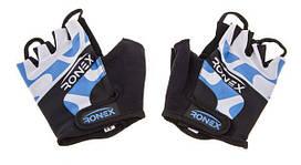 Перчатки атлетические синие Ronex RLF-501, размер M