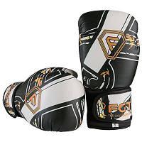Боксерские перчатки  FGT Flex черно-белые 6oz FT-0175/64