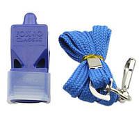 Свисток Fox 40, пластик, на шию, синій