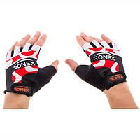 Перчатки атлетические красные Ronex RLF-501, размер M