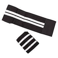 Напульсник силовой черный, пара, размер XL