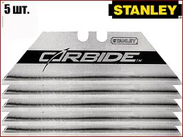 Лезвия для ножей трапеция Carbide 62х0,6мм Stanley 0-11-800