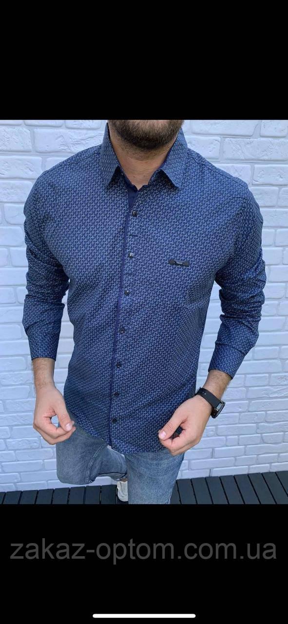 Рубашка мужская Норма оптом (M-3XL)Турция-81414