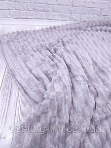 Плед шарпей велюровий в смужку ліловий 200х230 см