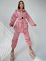 Шикарный теплый костюм рубашка и джогеры, фото 1