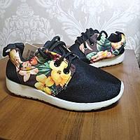 Кросівки для дівчинки текстильні чорні Fashion розміри 29,33