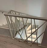 """Огорожа для сходів в сучасному стилі """"Лофт, Хай-Тек, Мінімалізм"""", фото 2"""