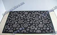Ковер грязезащитный Снежинки, 60х90см., черный