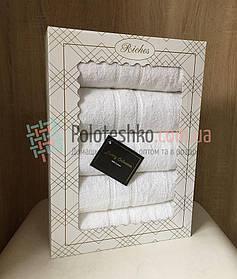 Подарочный набор махровых Белых полотенец