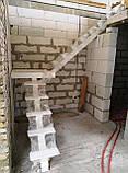 Металевий каркас сходів на центральній несучій. Монокосоур, фото 3