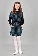 """Платье для девочки с пояском и модным принтом  """" Louis Vuitton """""""