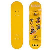 Скейтборд LUKAI SK-1245-1 желтый