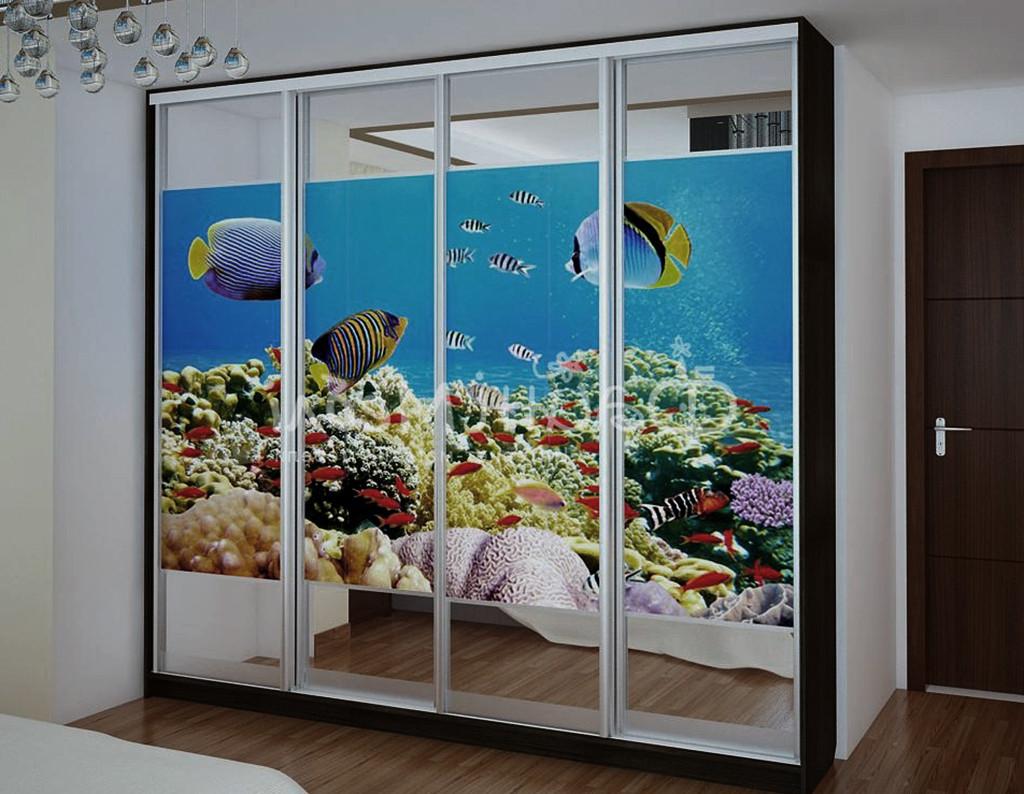 """Двері-купе з фотографією """"Підводний світ"""""""