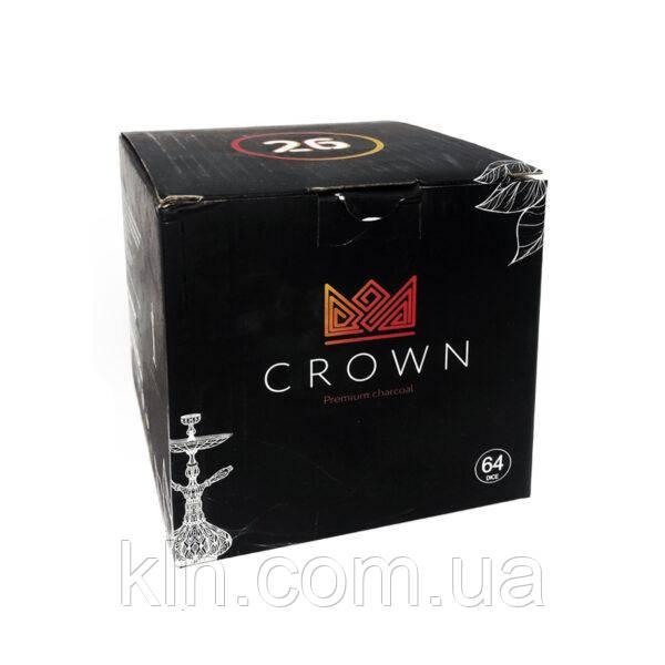Уголь кокосовый Crown большие для кальяна 1 кг 64 угольков
