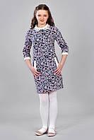 Детское платье с кружевным воротничком