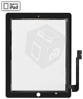 Touchscreen (сенсорный экран) для Apple iPad 3, черный, оригинал