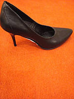 Туфли женские черные кожа на шпильке LEXI
